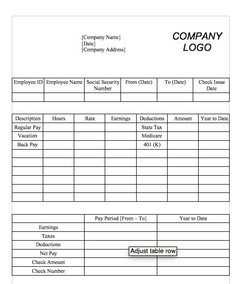 15+ Free Pay Stub Templates - Word Excel Formats