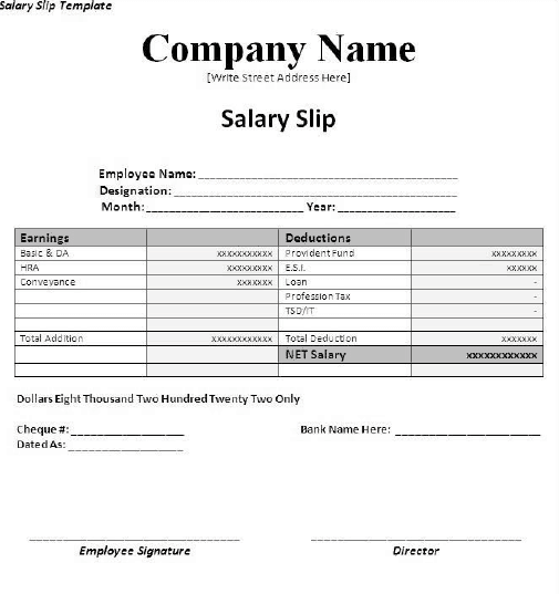 pack of 28 salary slip templates  payslips  in 1 click word excel samples