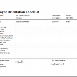2 Employee Orientation Checklist Templates
