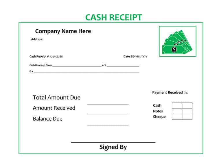 6  cash payment receipt templates
